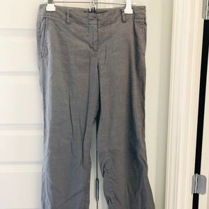 J Jill gray linen pants with stretch